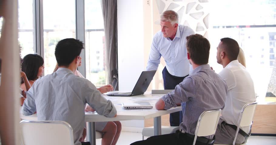 attending meeting
